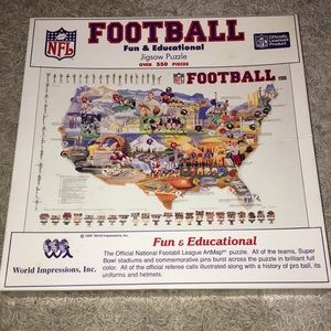 NFL Football Puzzle over 550 Pieces